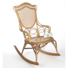 Antique Natural Wicker Rocking Ladies' Nursing Chair By ...