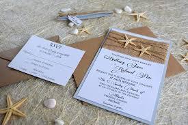 Beach Themed Wedding Invitations Templates