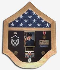 USAF Shadow Box Flag Medal Case