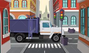 100 Rubbish Truck Vector City Crossroads With Car With Trash Municipal