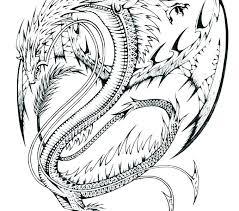 Dragons Coloring Pages V9904 Free Printable Dragon Colouring Realistic For Adults Sad