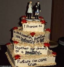 Bizarre The Fact That Husband Figurine Is Not Wearing Any Trousers Just One Of Problems With This Cake