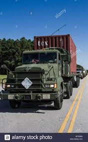 100 Trucks Are Us M878 Trucks Are Staged To Be Loaded With Freight Containers That