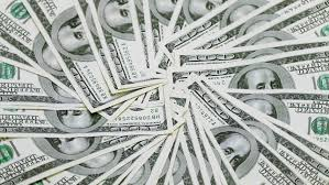 Rotating 100 US Dollars Bank Notes Business Background Stock