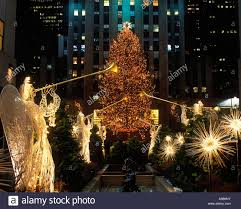Rockefeller Plaza Christmas Tree Lighting 2017 by Rockefeller Center Christmas Tree Angels Stock Photos