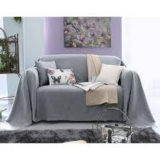 plaide canapé plaids et jetés de canapé gris 3suisses