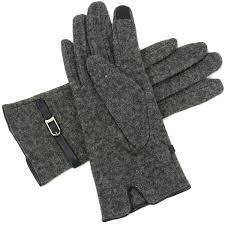 alpine swiss womens wool gloves leather trim touch screen dressy