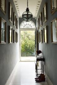 charcoal gallery wall period light hallway design ideas