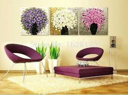 Paintings For Bedroom 3 Hand Painted Modern Canvas Oil Thick Flower Tree Knife Painting