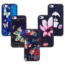 for iPhone 5s Case Cute 3D Relief Back Cover for iPhone se Phone
