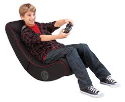 Pyramat Wireless Gaming Chair S5000 by Rocker Red Striped Gaming Chair Multimedia Gaming Recliner With