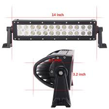 100 Light Bar Truck 135 Inch 72W 2x12 Car LED Work S Driving Boat Auto
