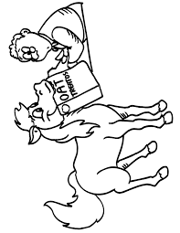 Free Horse Coloring Page Hungry