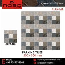 outdoor matt finish digital parking vitrified floor tiles