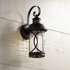capistrano 15 1 2 h black motion sensor outdoor wall light