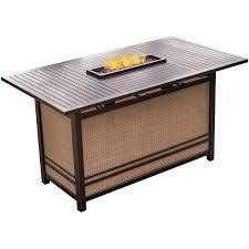 monaco 7 piece high dining bar set with 30 000 btu fire pit bar