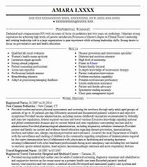 Best Registered Nurse Resume Example Livecareer Of To Apply Job For Nursing Examples