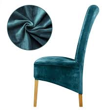 KKONION Solid Color Velvet High Back Chair Cover Europe Style Antifouling  Seat Covers Restaurant Party Hotel Banquet Green Velvet Chair On High Legs Stock Photo Image Of Black Back Ding Chairs Covers Blue Grey Button Modern Luxury Bar Stool Kitchen Counter Stools With Buy Modernbar Backglass Product Vintage Retro Danish High Back Green Lvet Lounge Chair Contemporary Armchair Lvet High Back Blue Armchair Made Walnut Covered With Green The Bessa Liberty In And Brass Pipe Structure Linda Fabric Lounge Amazoncom Fashion Metal Barstool 45 Antique Victorian Parlor Carved Roses Duhome Accent For Living Roomupholstered Tufted Arm Midcentury Set 2 Noble House Amalfi Barrel Emerald