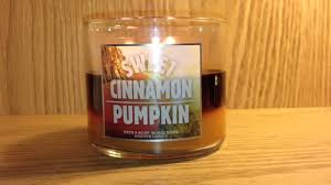 Bath And Body Works Pumpkin Apple Candle by Bath U0026 Body Works Candle View Sweet Cinnamon Pumpkin Youtube