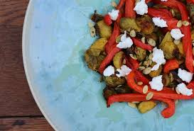 Sprout Pumpkin Seeds Recipe by Curry Brussels Sprouts With Peppers And Pepitas