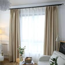 unifarbe vorhang minimalismus beige aus leinen und polyester
