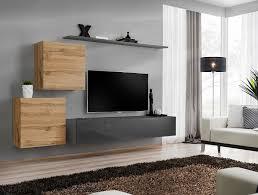 formera sydney 5 eiche hochglanz tv wohnwand schrankwand mediawand wohnzimmerwand modern