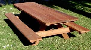 8 ft picnic with attached in mature 1 jpg