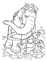 Elegant Ice Age Coloring Pages 17 On Free Book With