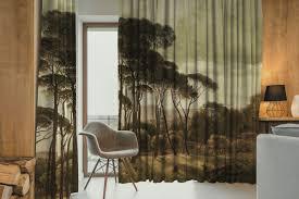 casa padrino luxus vorhang set landschaft mehrfarbig 250 x h 290 cm bedruckte leinen samt vorhänge ösenvorhänge schiebevorhänge luxus