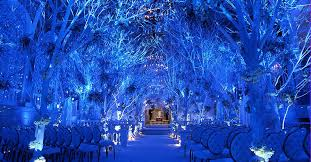 Image Of Winter Wonderland Wedding Ceremony