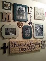 my diy family photo wall gallery wall in my hallway with frames