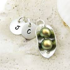 JC Jewelry Design Two Peas In A Pod Necklace With Two ...