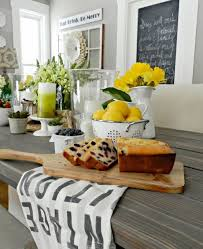 Elegant White And Yellow Kitchen Ideas With Rustic Table