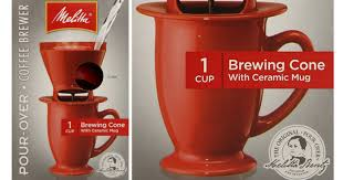 Hop On Over To Amazon Where You Can Score This 4 Pack Of Melitta Single Cup Pour Coffeemaker With Red Brewing Cones And Ceramic Coffee Mug For Just