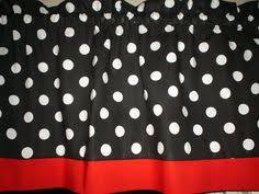 White Kitchen Curtains With Red Trim by Red White Polka Dot Stripe Mickey Mouse Bedroom Kitchen Window