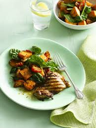 Japanese Pumpkin Salad Recipe by Grilled Chicken With Pumpkin And Tomato Salad The Heart Foundation