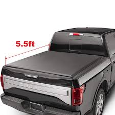 100 F 150 Truck Bed Cover Amazoncom OEDRO TRIOLD Tonneau Compatible With