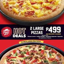 Two (2) Large Pizzas For Php499 At Pizza Hut Hot Deals ... Pizza Hut Online And In Store Coupons Promotions Specials Deals At Pizza Hut Delivery Country Door Discount Coupon Codes Wikipedia Hillsboro Greenfield Oh Weve Got A Treat Your Dad Wont Forget Dominos Hot Wings Coupons New Car Deals October 2018 Uk 50 Off Code August 2019 Youtube Offering During Nfl Draft Ceremony Apple Student This Weekends Best For Your Sports Viewing 17 Savings Tricks You Cant Live Without Delivery Coupon Promo Free Cream Of Mushroom Soup