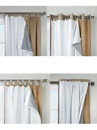 Grommet Insulated Curtain Liners by Blackout Liner Curtains Drapes U0026 Valances Ebay