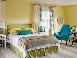 Decorating With Yellow Blue And Green Bedroom