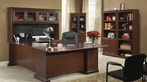 Sauder Executive Desk Staples by Heritage Hill Collection File Cabinet Home Office Desk With