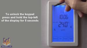 Suntouch Heated Floor Thermostat Manual by Heatwell Thermostat Tr8100v Programming Instructions Youtube