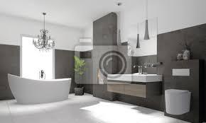 luxuriöse moderne badezimmer mit freistehender badewanne bilder myloview
