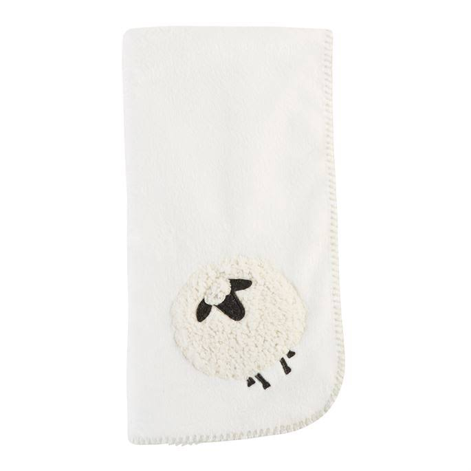 Mud Pie Sheep Fleece Blanket - Ivory, One Size
