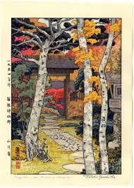 Toshi Yoshida Japanese Woodblock Print Autumn In Hakone