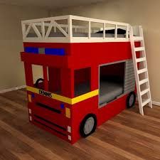 Bedding : Fire Engine P High Sleeper Beds For Kids Cabin And Bunks ...