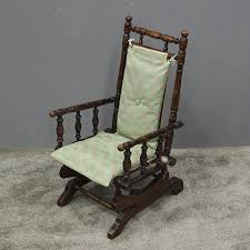 Antique American Childs Rocking Chair 1 | ANTIQUES.CO.UK | Vintage Exposed Wood Rocking Chair With Upholstered Seat By Antique Open Arm Rocking Chair Upholstered Seat And Back Summer Days Wooden Mahogany Lincoln Rocker Sell 6 Needlepoint Covers Upholstery From Vulcanlyric Amazoncom Fniture Of America Betty Oak With Cane And Back Ebth Hcom Lounger Relaxing Padded Love Shop Quality Hospality Rattan Legacy Cushioned Outdoor Interior Design