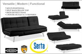 Serta Dream Convertible Sofa By Lifestyle Solutions by Serta Palermo Dream Convertible Sofa Bed Black White Scpao2s3l15bksp