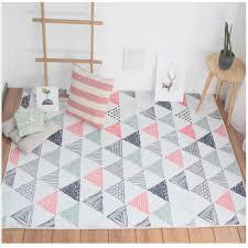 nordic stil nette rosa und grau dreiecke nacht teppich große größe wohnzimmer teppich pastoralen hause dekoration boden matte