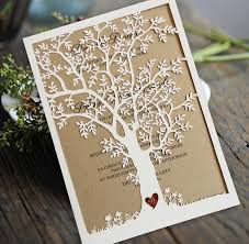 Laser Cut Tree Wedding Invitation Fall Cards Invite Rustic Invitations Set Of 50 In From Home